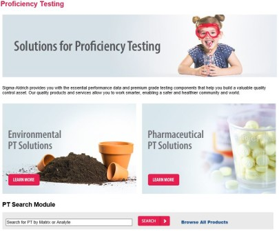 Solutions for Proficiency Testing (PT)