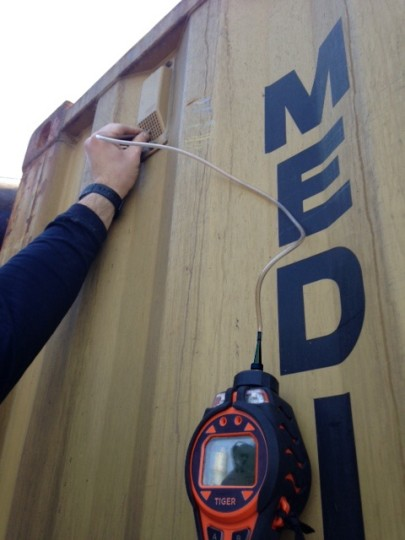 Toxic Waste Specialists Use Intrinsically Safe handheld Instrument to Monitor VOCs in Box Containers Bound for Europe From Israel