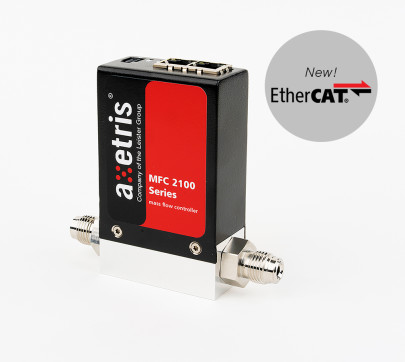 High-performance mass flow controller with EtherCAT interface