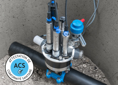 pipe::scan - measuring TOC, DOC, Turbidity, Chlorine, pH and more - directly in the network