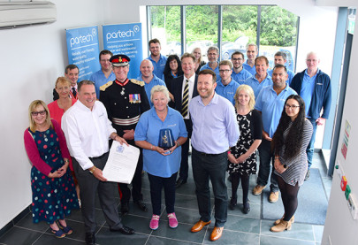 Lord Lieutenant presents Queen's Award to water testing equipment manufacturer