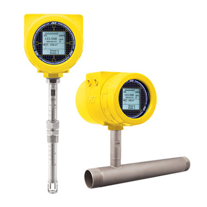 Thermal flow meter optimised for biogas applications